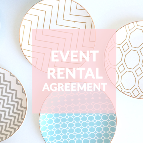 Event Rental Agreement Contract Templates ANNETTE STEPANIAN – Event Agreement Template