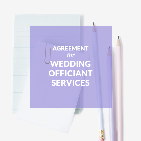 Agreement for Wedding Officiant Services Contract Template