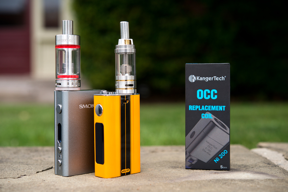 Pictured above from left to right: The Smok M80 Plus topped with a Kanger Subtank Plus, the Evic VT topped with a Smok Gimlet Cloud Tank (GCT) and replacement NI-200 coils for Kanger Subtanks.