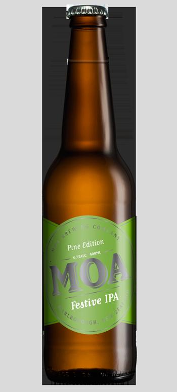 Moa Festive IPA PINE EDITION Christmas 2015 Beer Hops