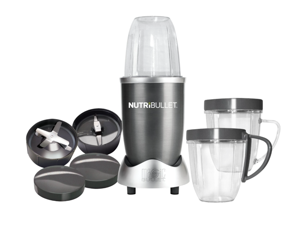 The   Nutri Bullet  is a great gift for the person in your life who loves to eat healthy and is always on the run. I have one and I throw in some kale, fruit and protein, screw on the top and let it blend while I continue to get ready in the morning. They come with lids and handles, so you can even take it on the go.