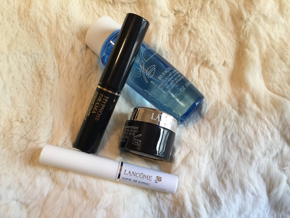 Lancome Paris : The Essential Eyes Kit:  Hypnose Drama $27.50 USD ,  Cils Booster XL $25.50 USD ,  Genifique Yeux-Youth Activating Eye Concentrate $67 USD