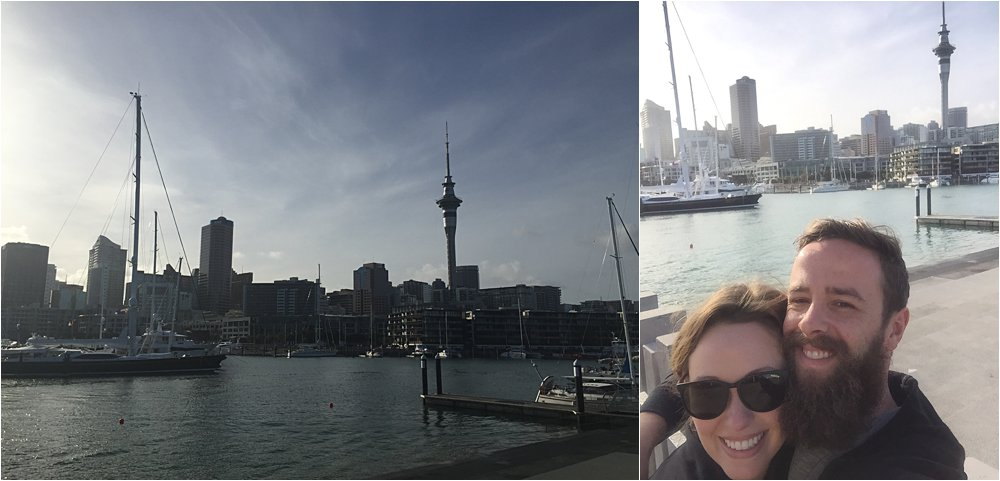 View of the Viaduct Harbor in Auckland.