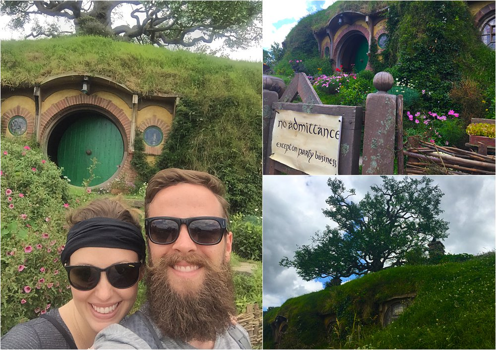 We were all deeply disappointed that we could not go into Bag End- then we learned that only the outside filming took place here and there really is no inside! Another fun side note- that tree on top of Bag End is totally fake. They have to restring the fake leaves up there every six months.
