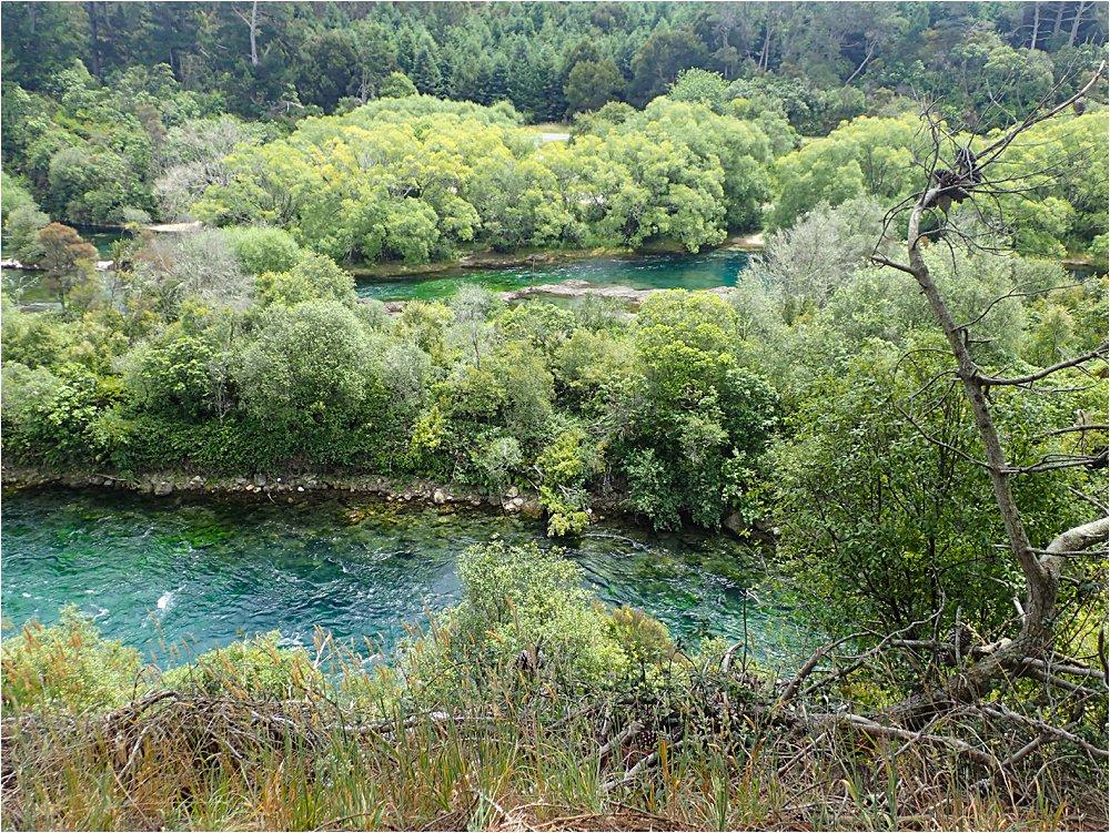 Waikato River leading to Huka Falls