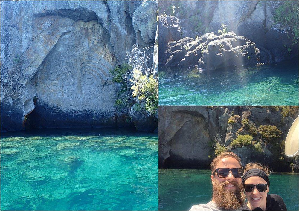 """""""Ancient"""" Maori rock carvings"""