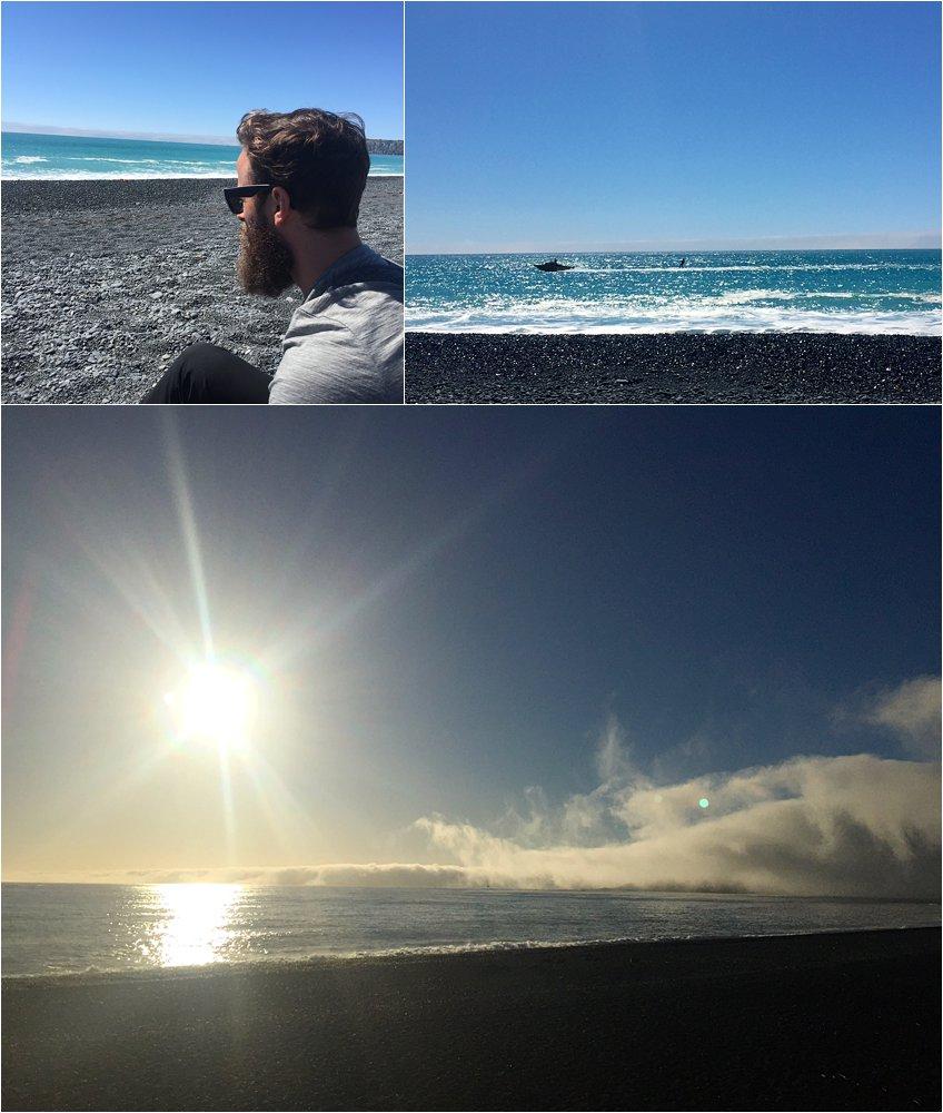 Kaikoura's beautiful black sand beaches