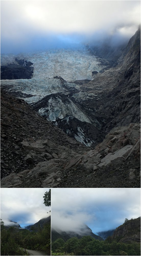 Landscape changing, boulder crushing Franz Josef glacier. It's hard to get a sense of it's truly massive size from these pics.