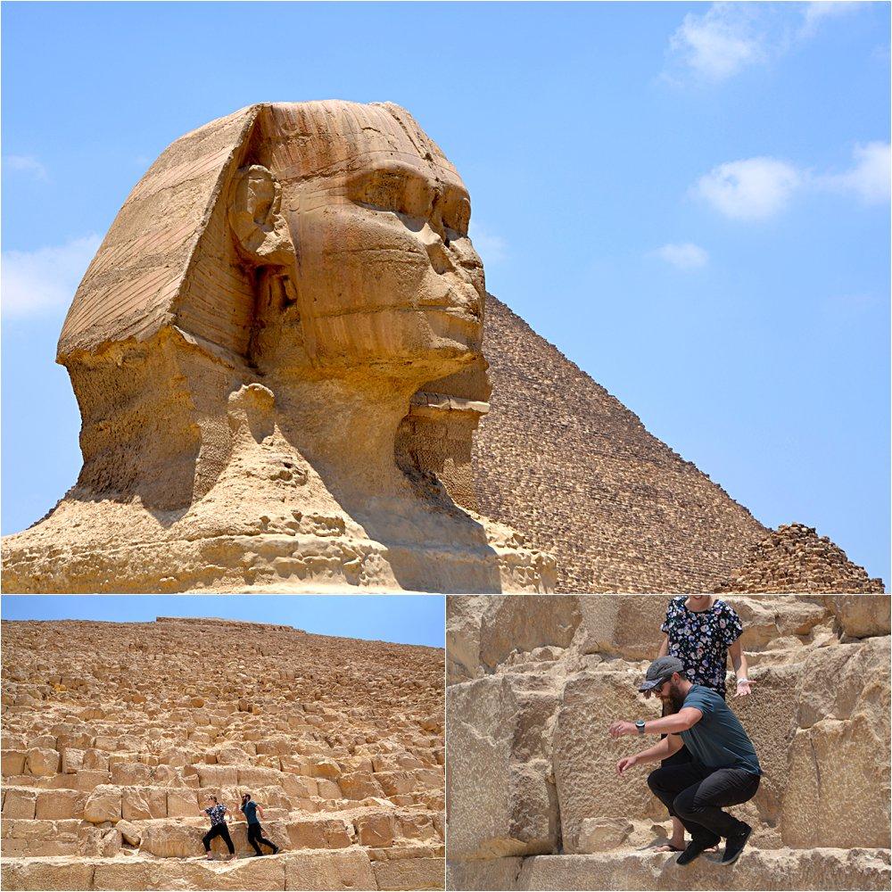 The Sphinx at the Giza Pyramids