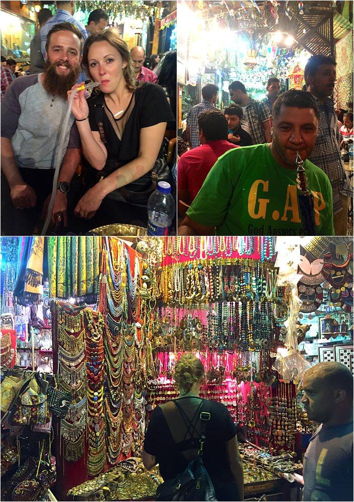 Smoking shisha at the Khan al Khalili market!