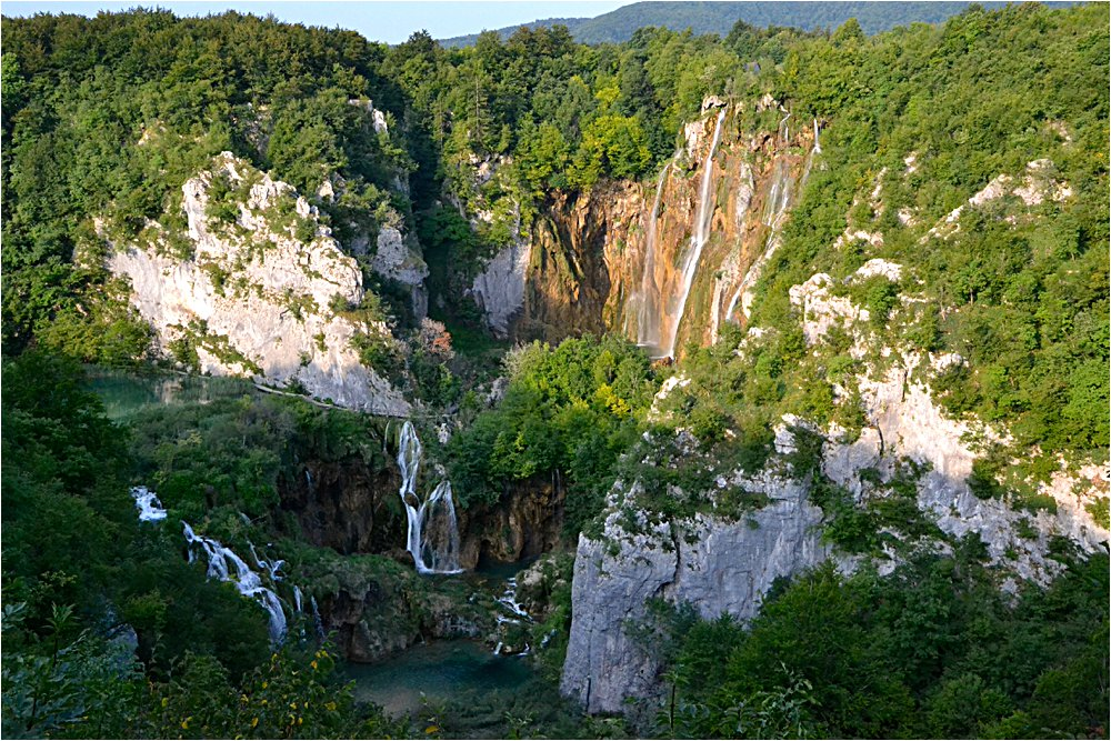 Overview of some of the lakes and waterfalls at Plitvice National Park