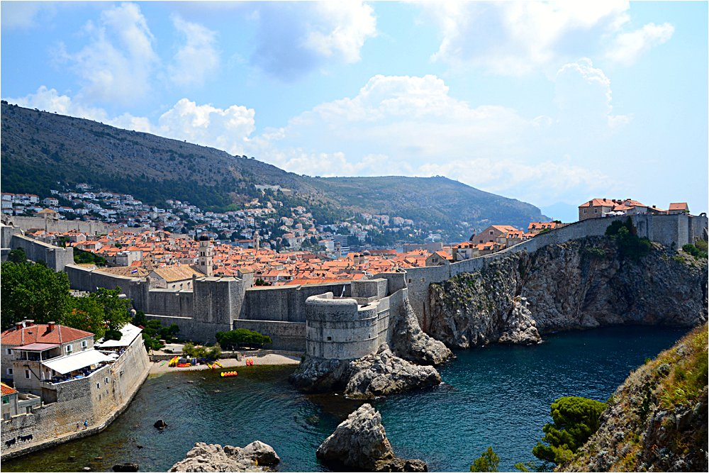 The walled city of Dubrovnik, also known as King's Landing