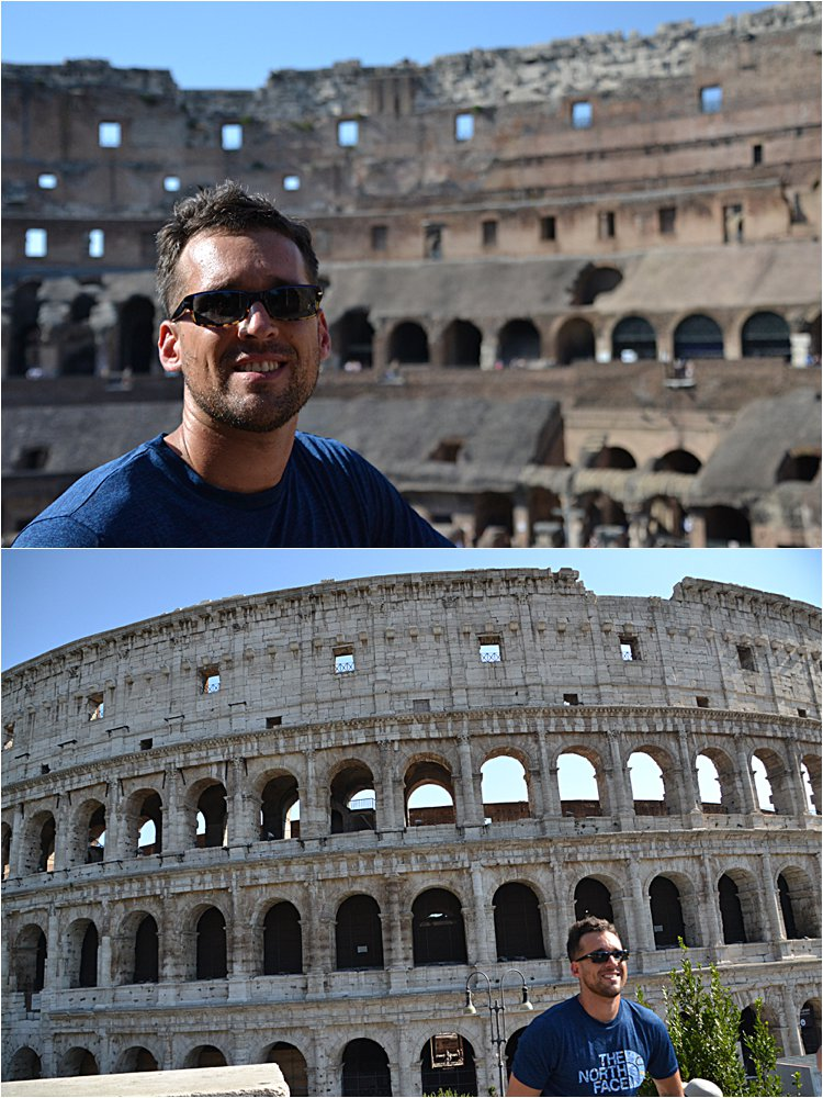 Bobby at the Colosseum