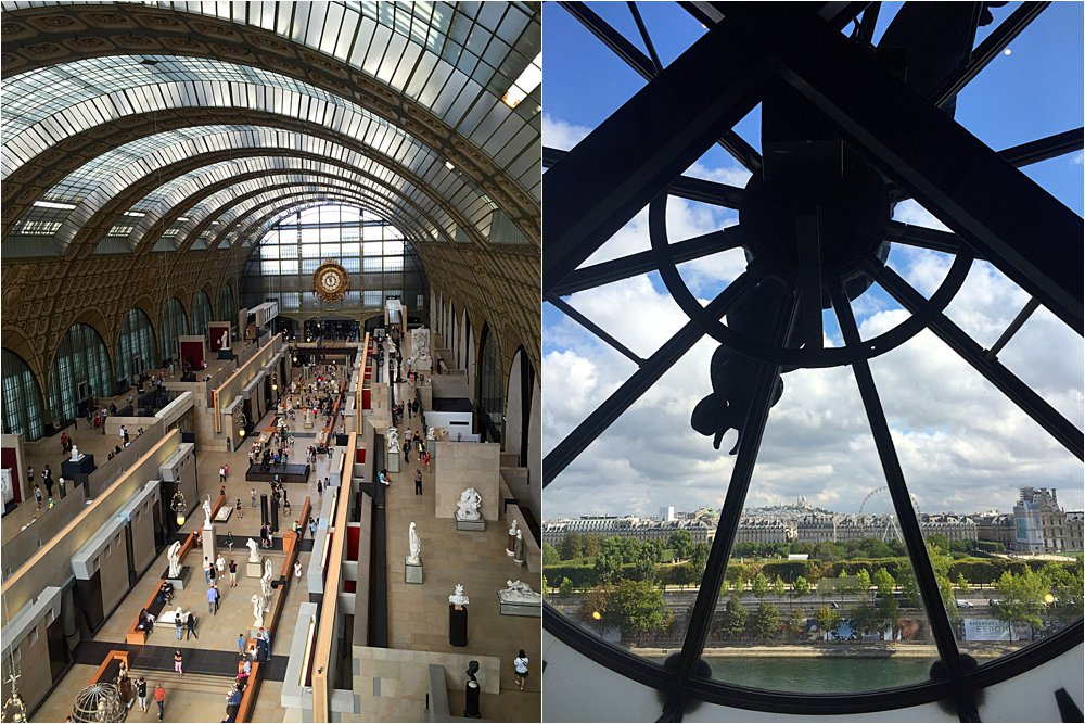 Inside the Musee d'Orsay (it used to be a train station!)