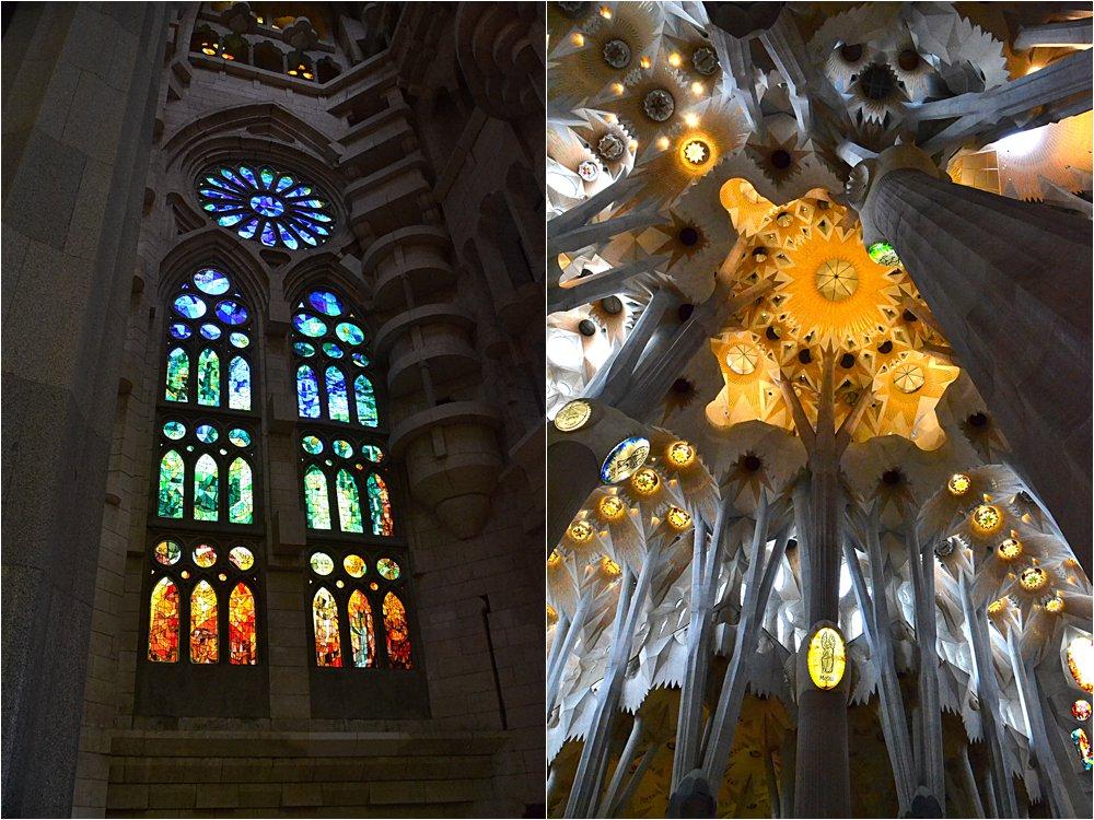 Inside Gaudi's Sagrada Familia.