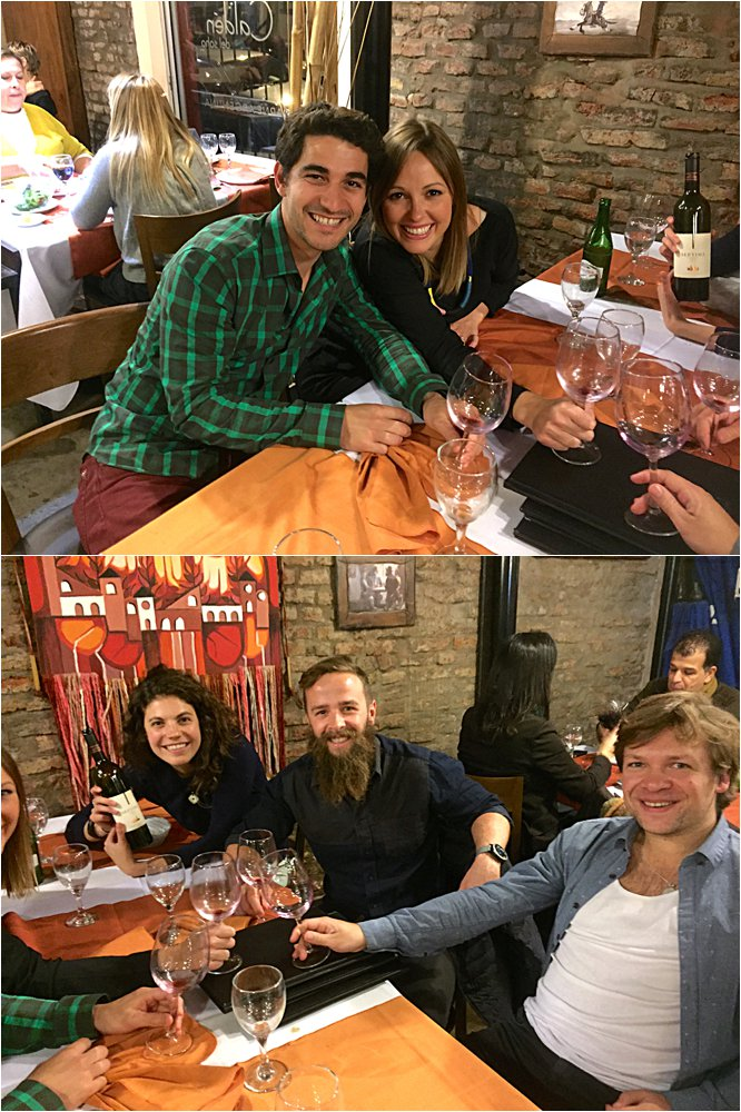 Our first taste of Argentinian steak with Will, Mikey and Tamara.