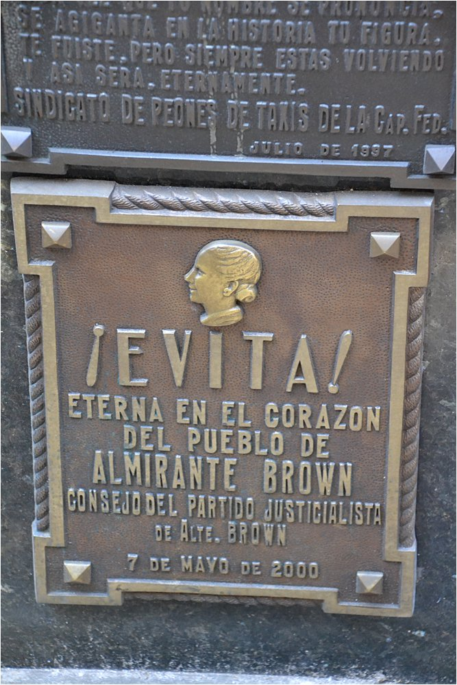 One of the only tourist destinations we visited, the tomb of Evita