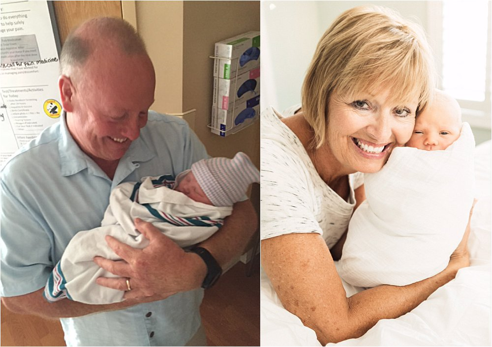 PoPo and PegPeg loving their new roles as grandparents.