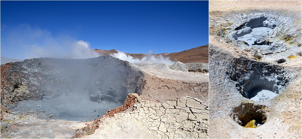 """Thermal geysers. When asked if we could go close to them our guide said, """"In Bolivia everything is possible, but nothing is safe."""" So we walked trepidatiously."""