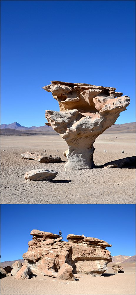 Rando rocks in the Bolivian altiplano (there is probably an explanation that is definitely not random, wind, erosion, sandstone, something science-y)