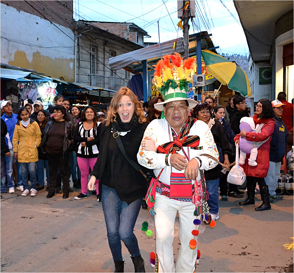 That time in La Paz when you accidentally become part of a parade.