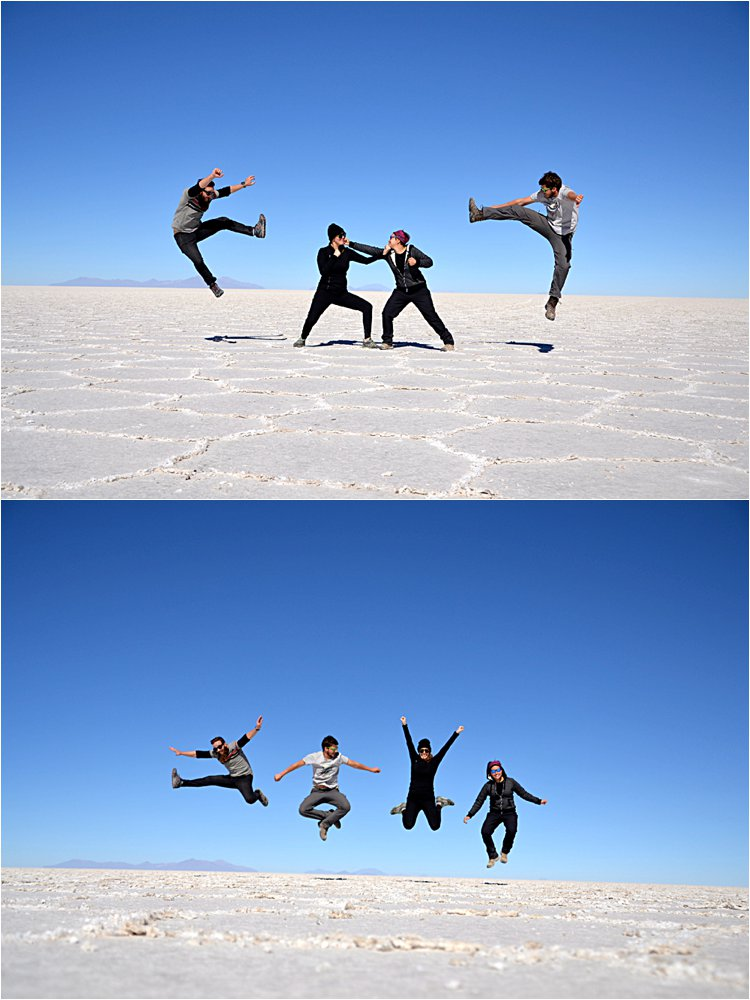 Fighting and jumping with Valentin and Maeva, our amazing, fun, lovely, smart and interesting car/tour mates.