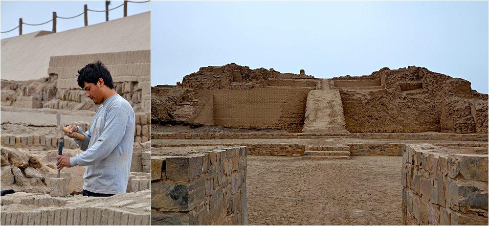 Pre-Incan ruins outside of Lima.