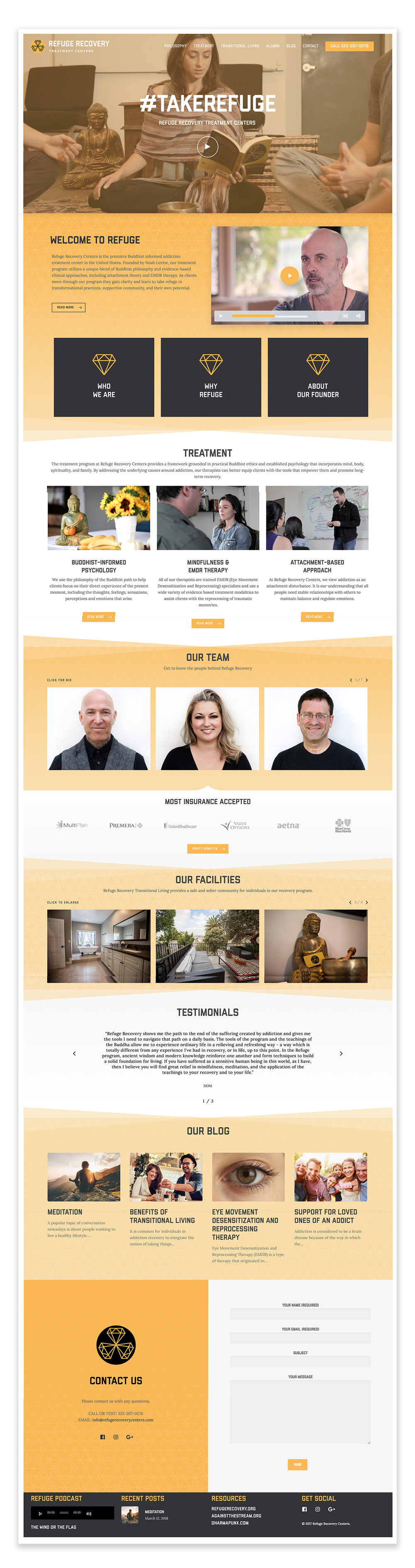 Refuge Recovery Treatment Centers - Landing Page (Web Development by Palms BLVD)