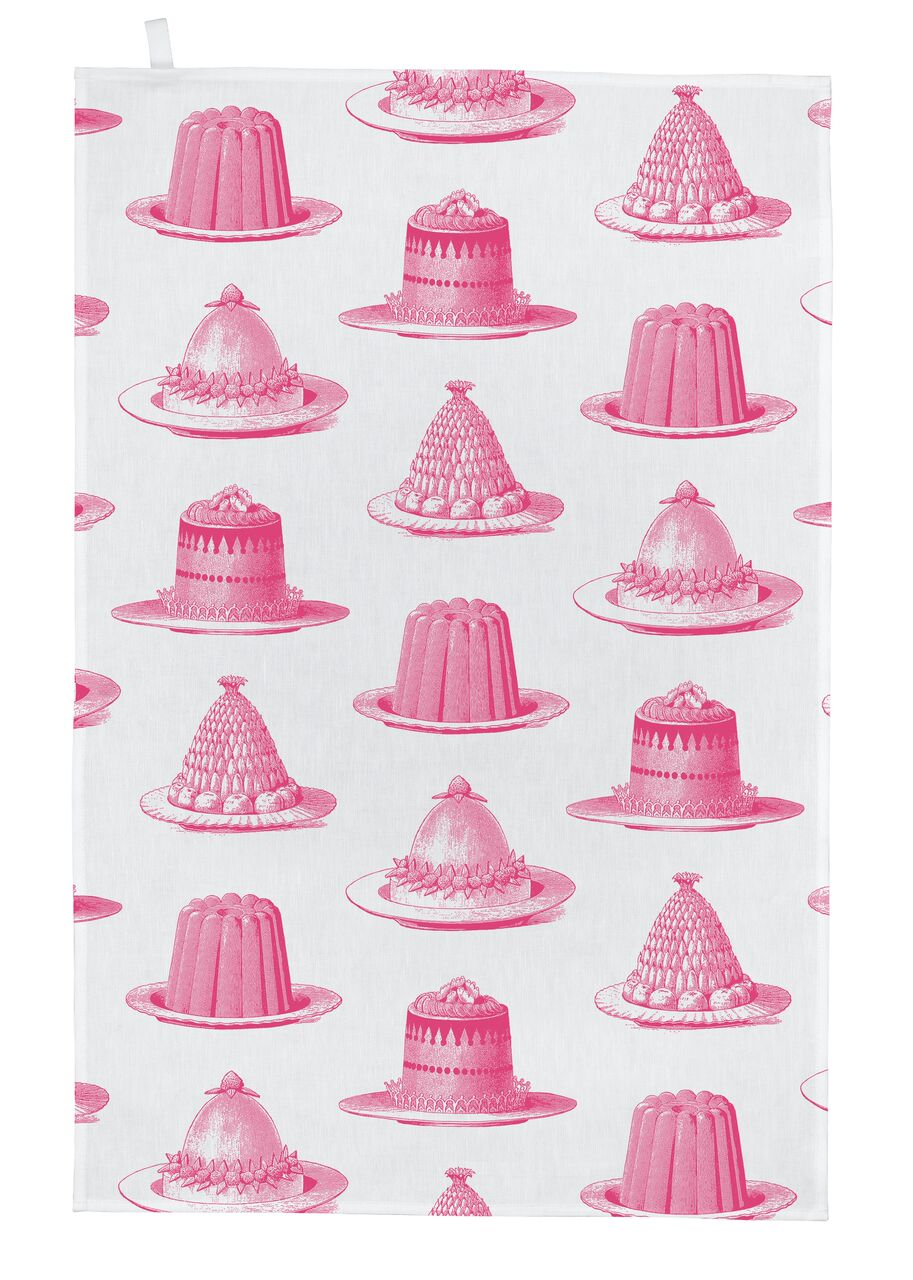 Jelly Tea Towel (Pink)