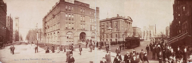 The Institute's original Boston campus at Copley Square, courtesy of Sigma Chi