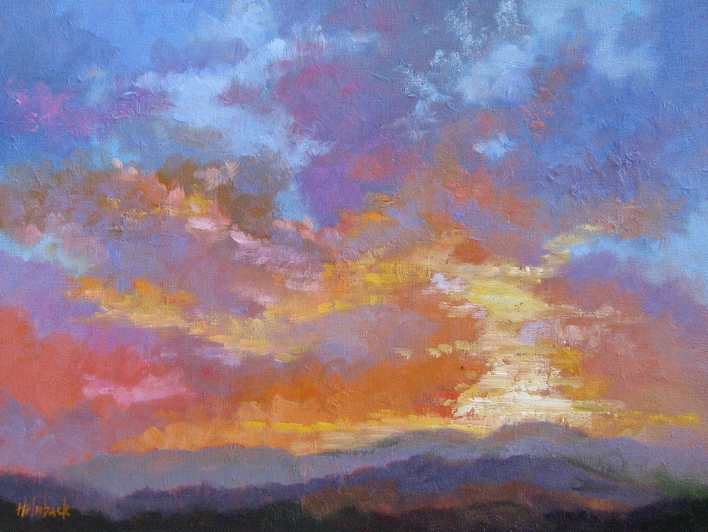"South Park Sunset  12"" x 16"""