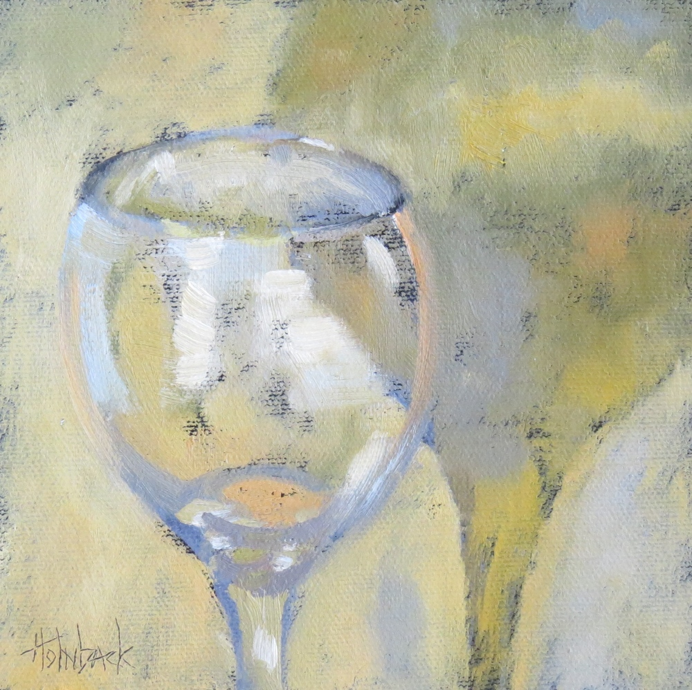 "Come Share The Wine  6"" x 6""  SOLD"