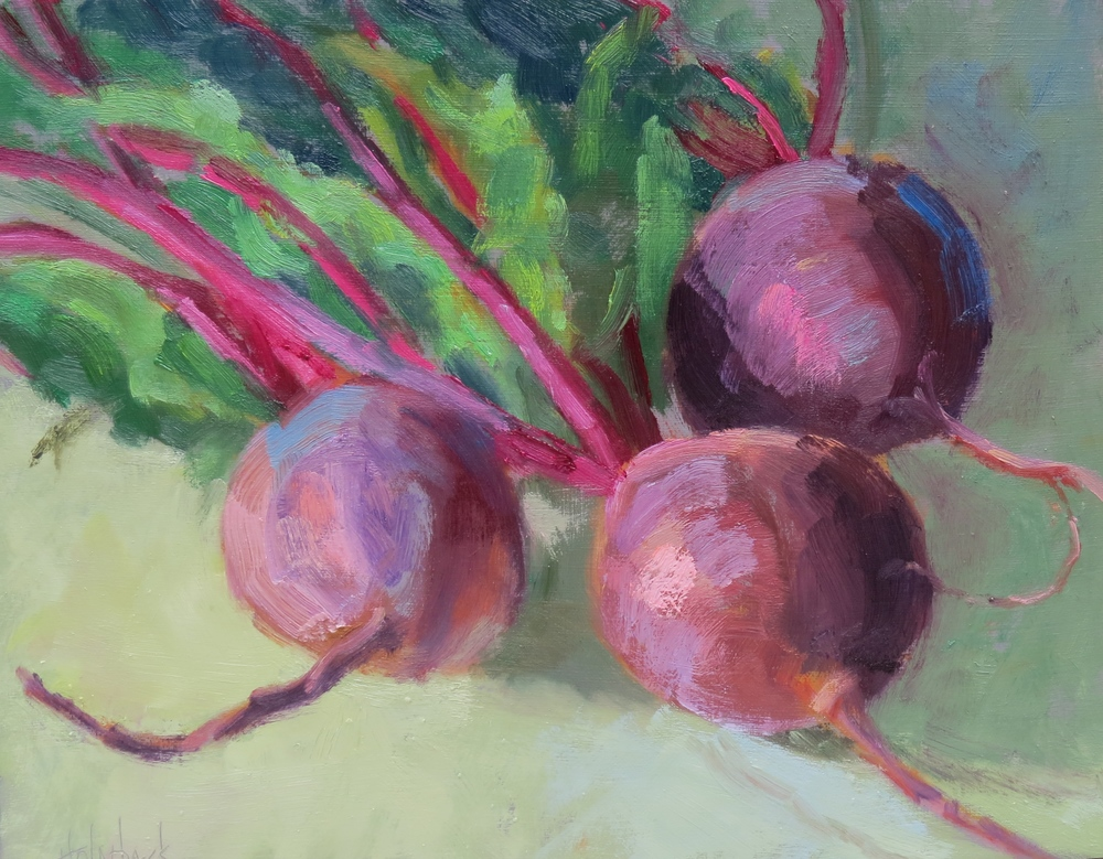 "In A Heart Beet  9"" x 12""  SOLD"