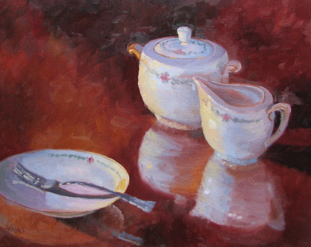 "Tea, Anyone?  16"" x 20"""
