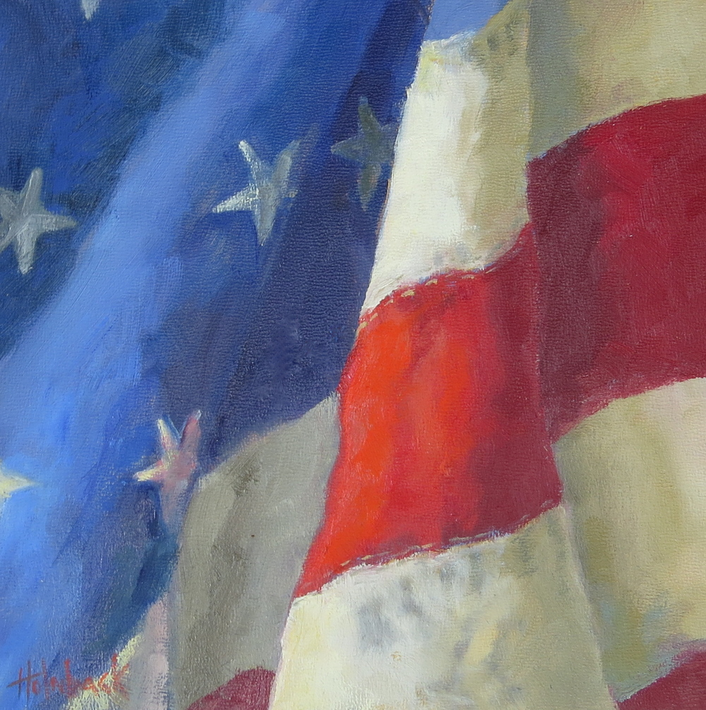 "Stars And Stripes  8"" x 8""  Sold"