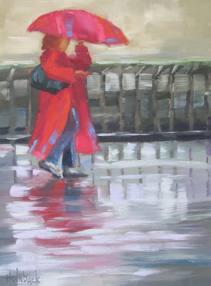 "Rainy Day  8"" x 6""  Private Collection"