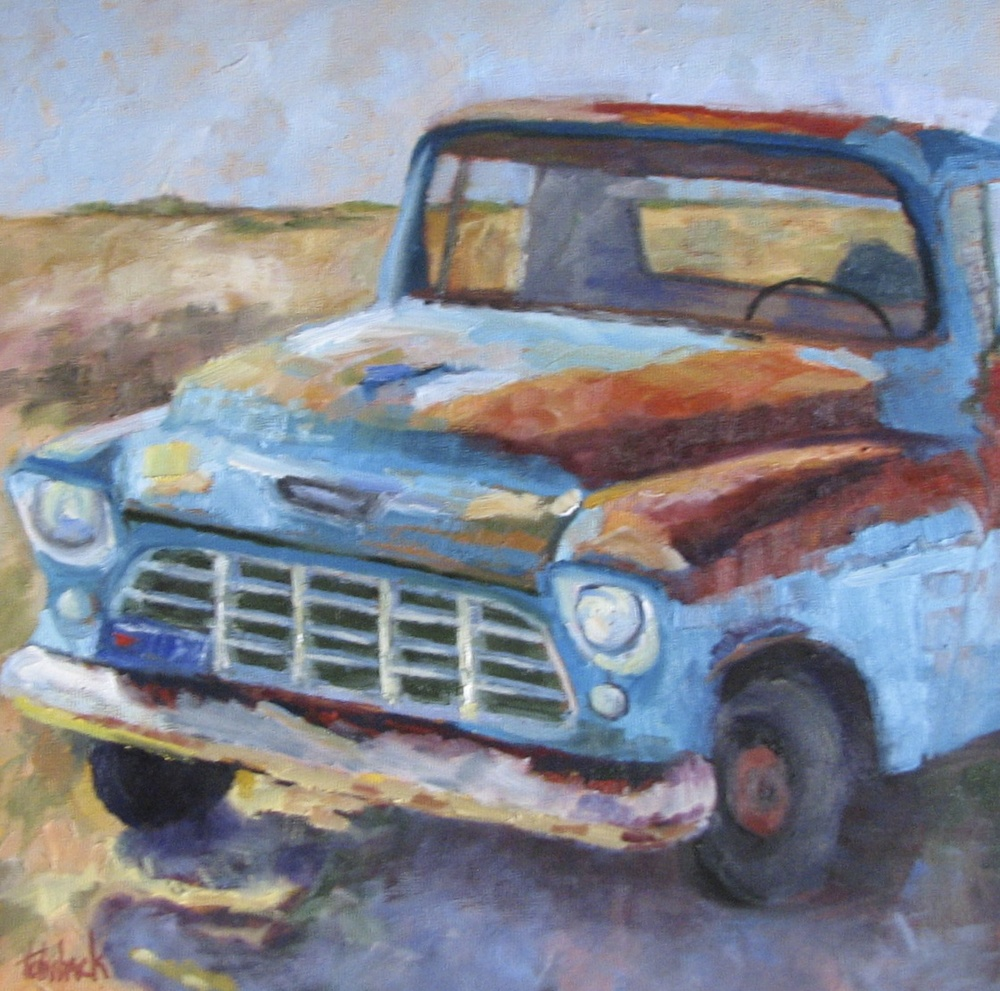 "Old Chevy  12"" x 12"""