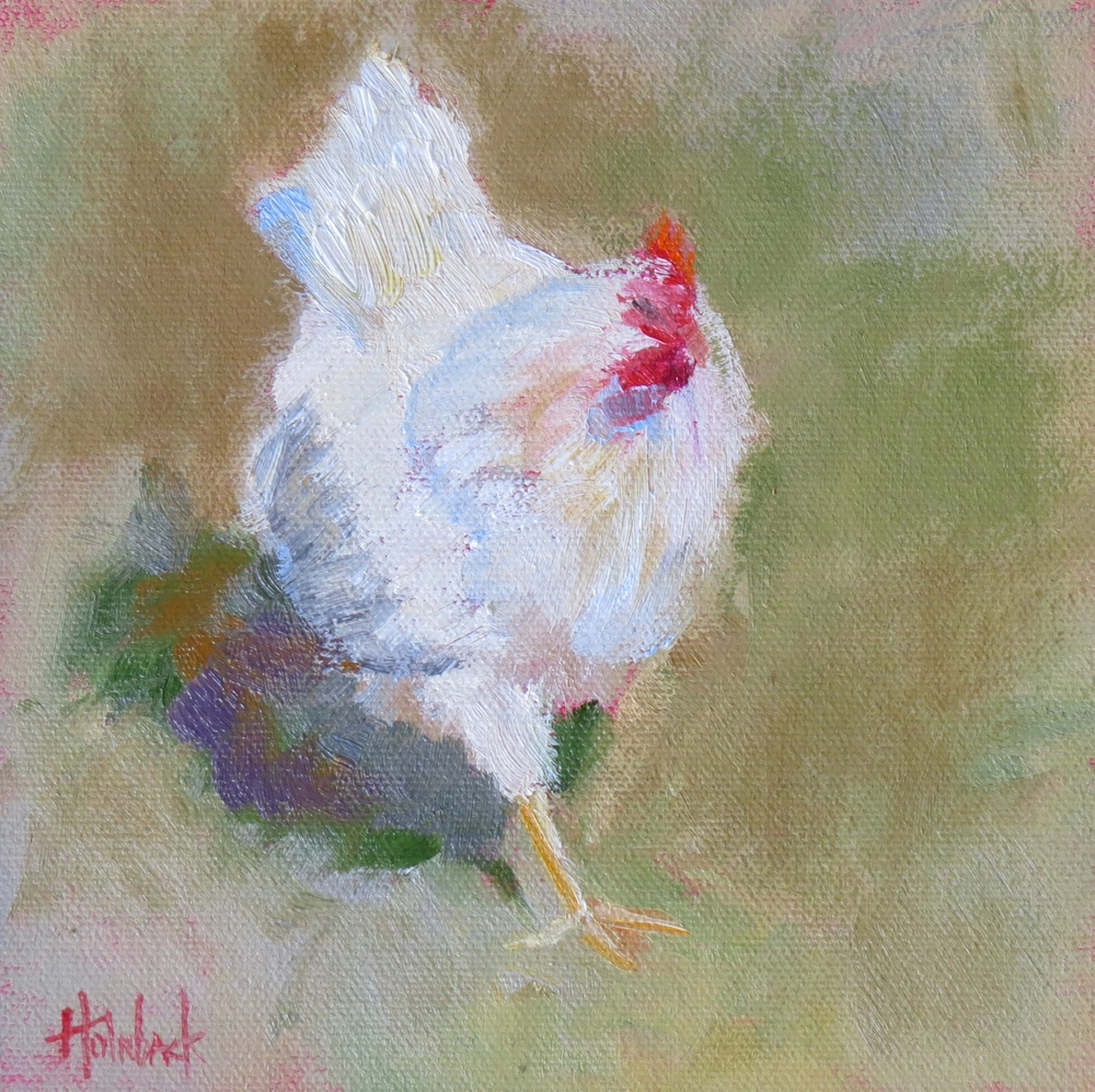"Which Came First?  6"" x 6""  SOLD"