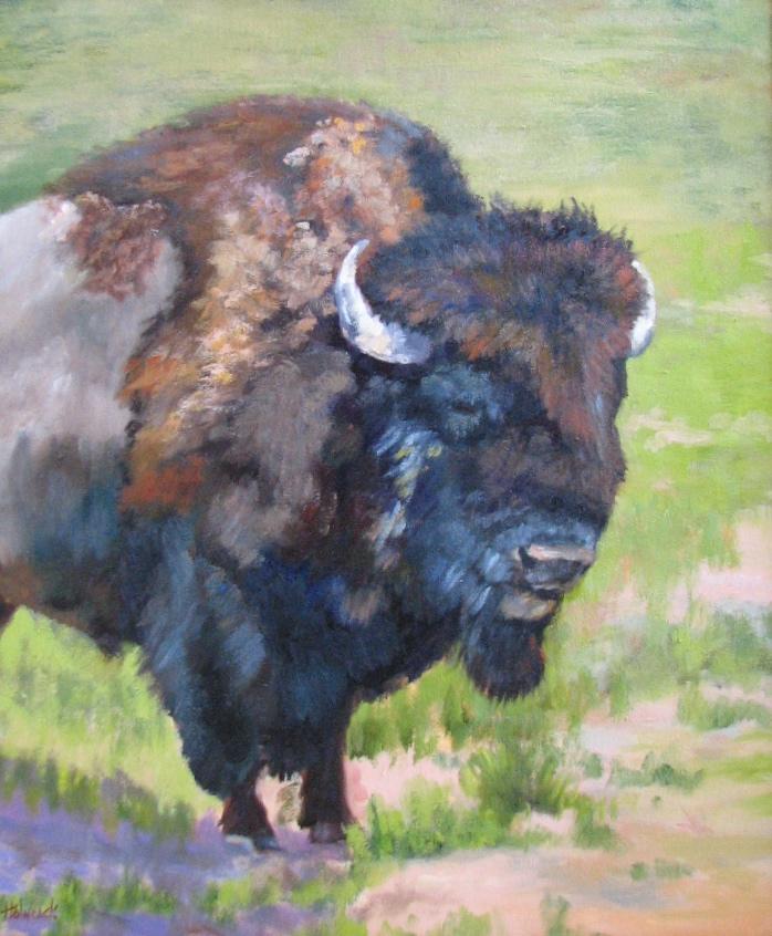 """Standing Bull  24"""" x 20"""""""