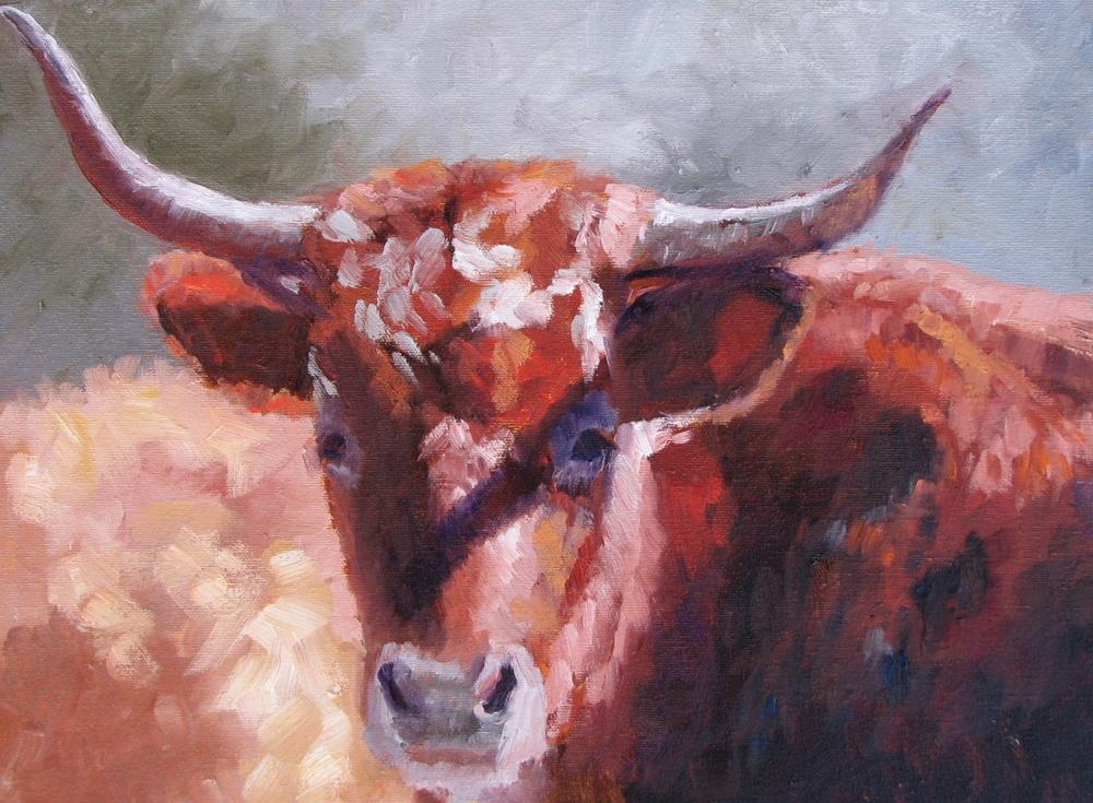 "Texas Midhorn  12"" x 16"""