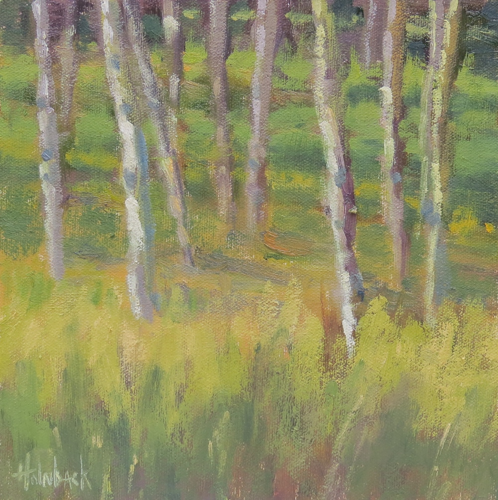 "Valley Of Aspen  8"" x 8"""