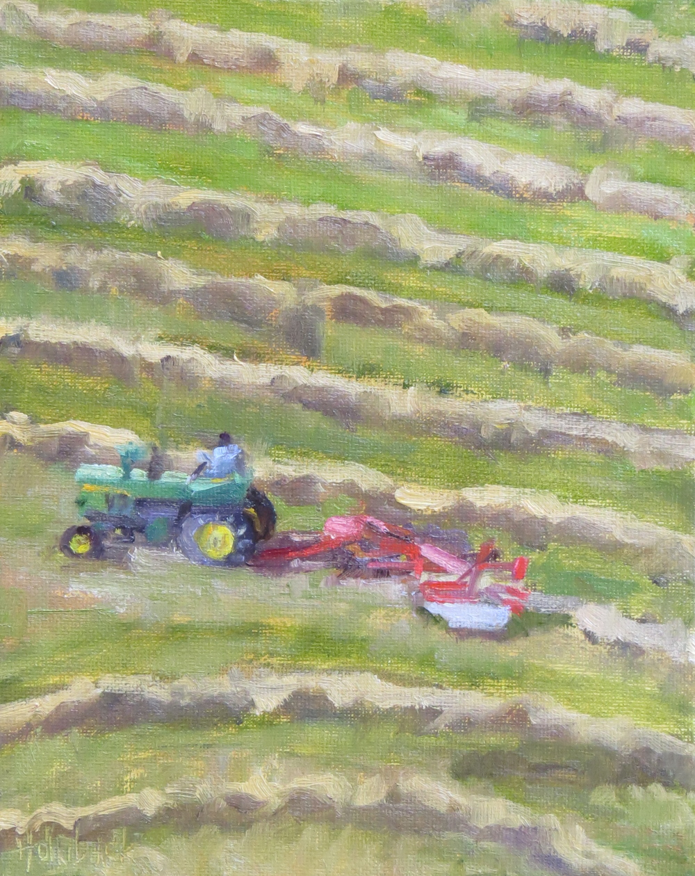 "Raking The Hay  10"" x 8""  Private Collection"