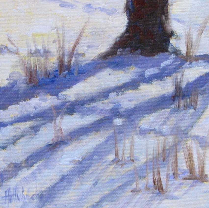 "Radiating Snow Shadows  6"" x 6"""