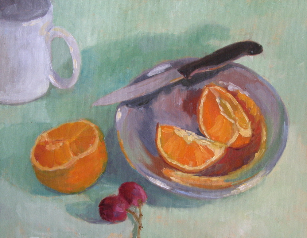 "Orange Slices  11"" x 14"""