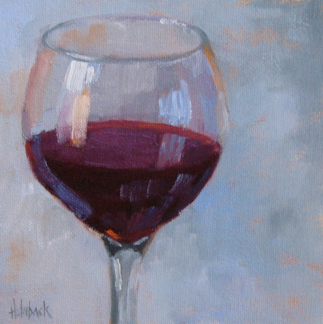 "But Man Made Wine  6"" x 6""  SOLD"