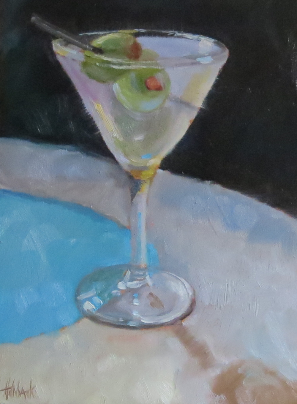 "Shaken, Not Stirred  8"" x 6"""