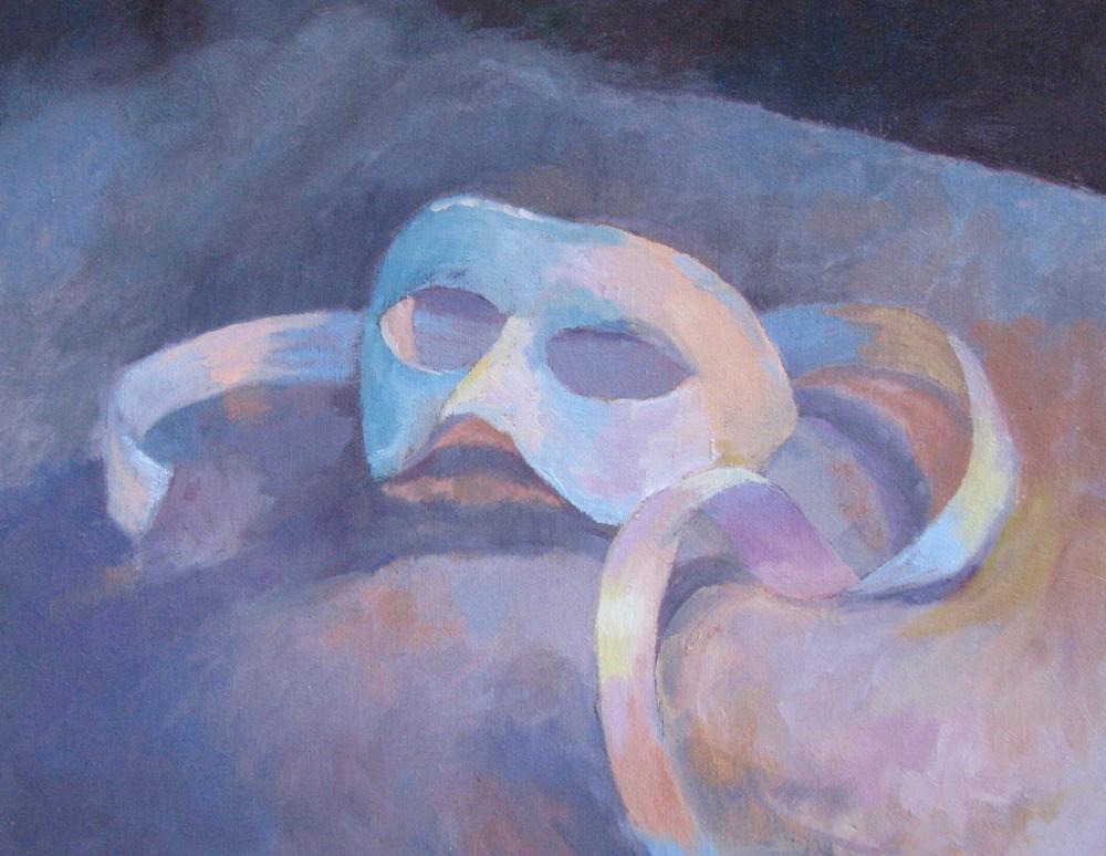 "Venetian Mask  11"" x 14"""