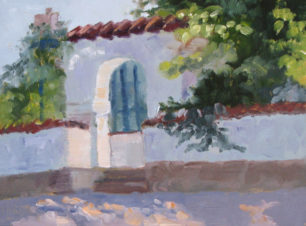 "Triangle L Garden Gate  6"" x 8""  Private Collection"