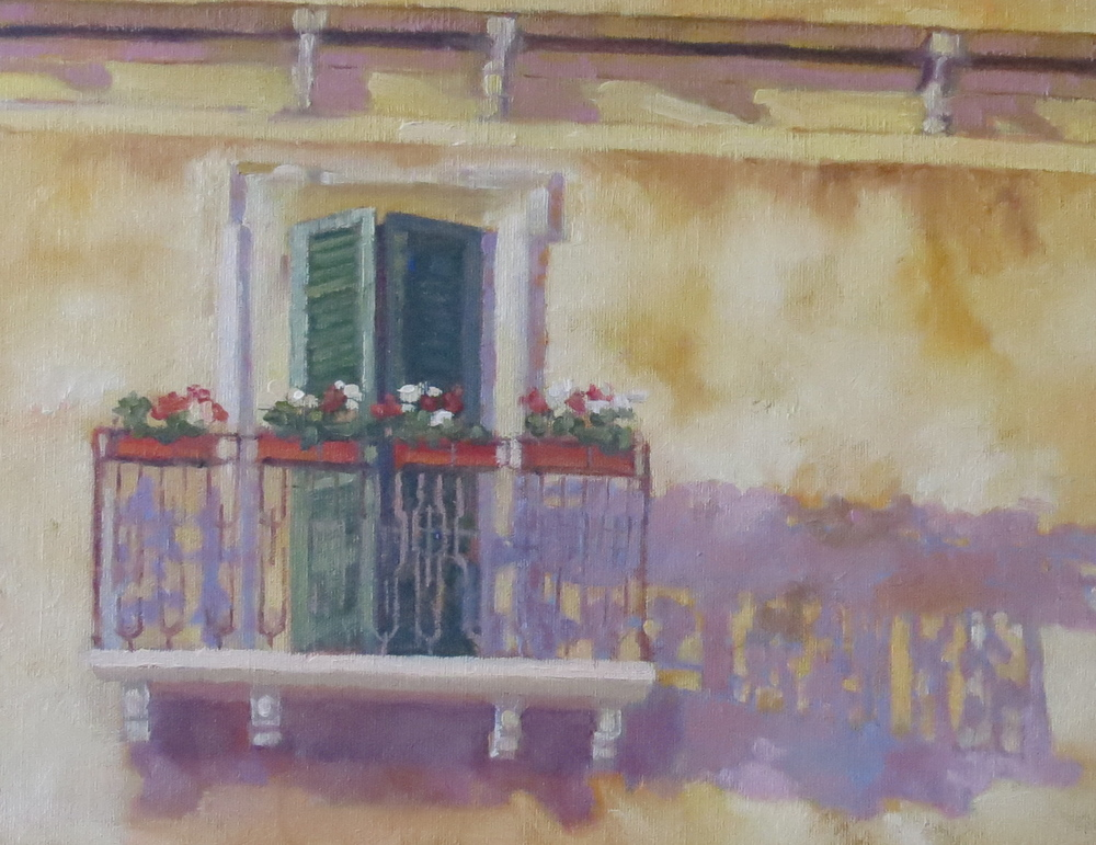 "Balcony In Barga  11"" x 14"""