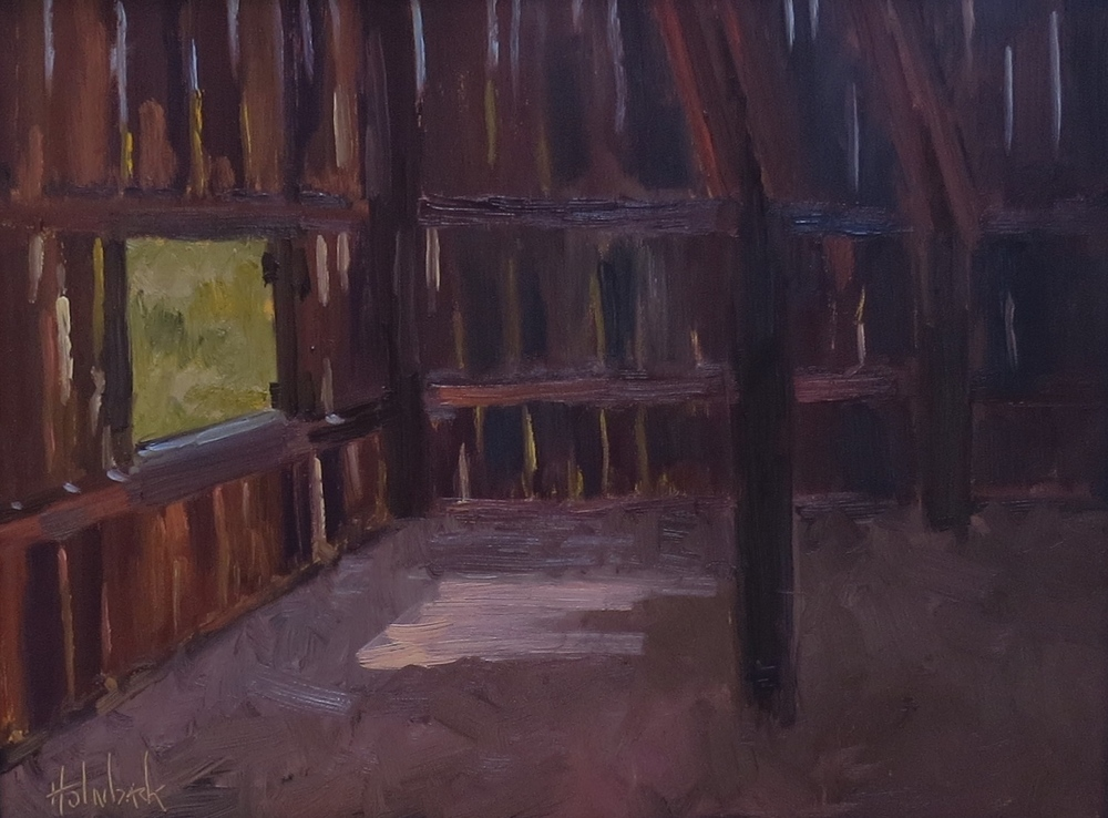 "Loafing Shed  12"" x 16"""